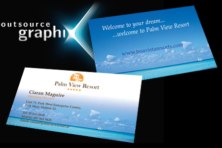 business card design and print banner image 1