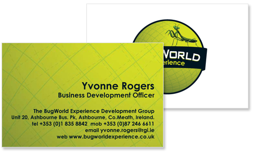 great business card sample for bug world