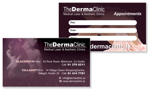 business card sample for cosmetic surgery company