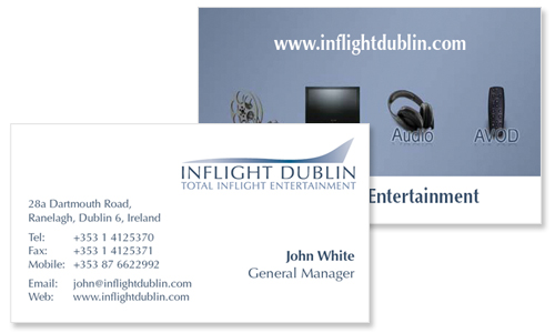 business card design for entertainment company
