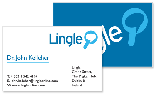 business card sample for technology company lingle