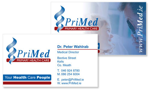 professional business card design for medical company