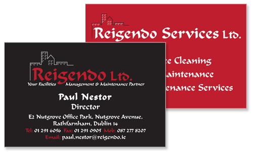 business card sample for property management company